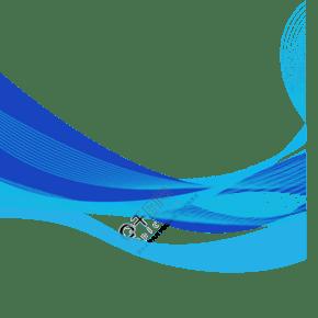 藍色系矢量科技波浪裝飾