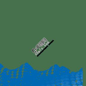 藍色科幻通用波浪裝飾