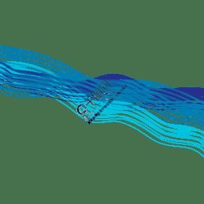 藍色科幻通用波浪裝飾線