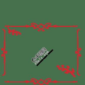 创意中式花纹边框手绘