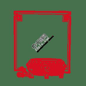 中式花纹鼓花纹图框手绘插画