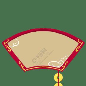 中式风格红色边框手绘