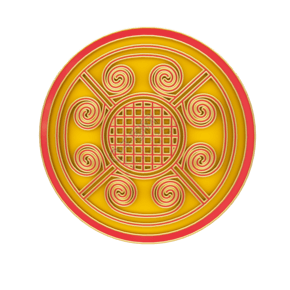 紅金中國風時尚立體花紋C4D電商裝飾元素
