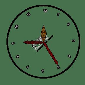 用英文字母和圆组成的时钟