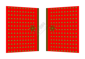 漂亮的大紅門插畫