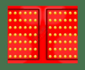 紅色的大紅門插畫