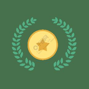 奖牌装饰矢量元素