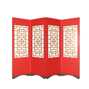 C4D新年新春門窗古代門免摳圖裝飾