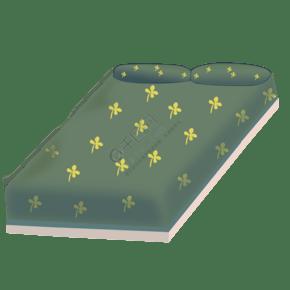 灰色创意床铺元素