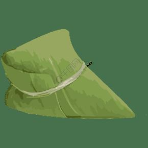绿色棕叶生态包装免抠图