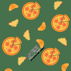 卡通披薩底紋裝飾