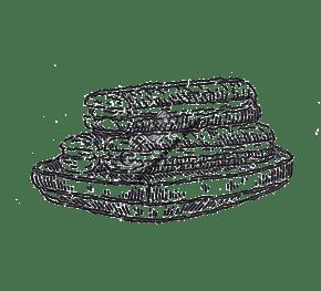 黑白線條手繪曲奇餅