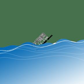 藍色科幻通用海洋圖形裝飾