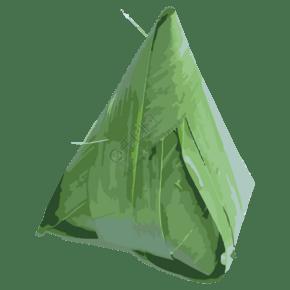 绿色生态棕子免抠图