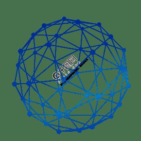 矢量點線結構科技球形