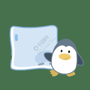 小企鵝敲冰塊便利貼