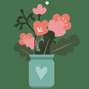 漂亮的植物盆栽免抠图