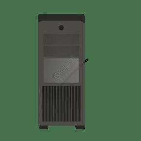 灰色创意科技电脑主机元素