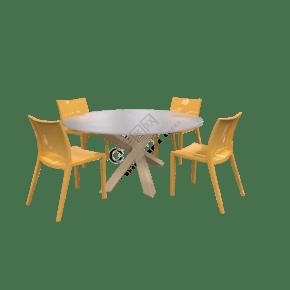 简约写实桌子椅子