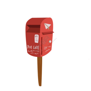 紅色的郵遞箱免摳圖