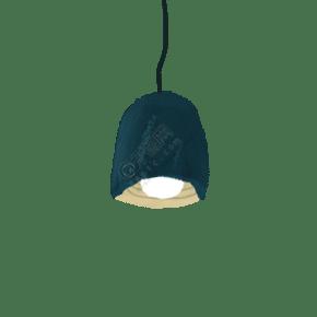 手绘卡通蓝色简约吊灯