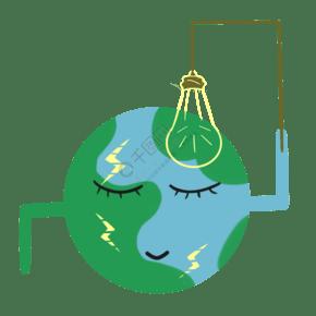 保護地球一小時插畫