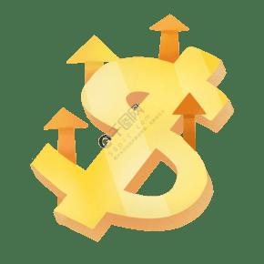 金融符号卡通插画