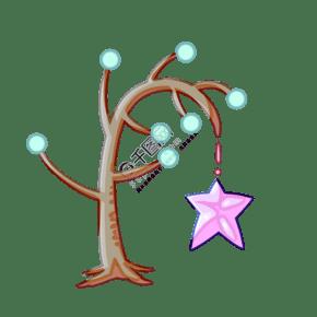 圆叶星星树木插画