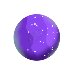 紫色插画星球暗星