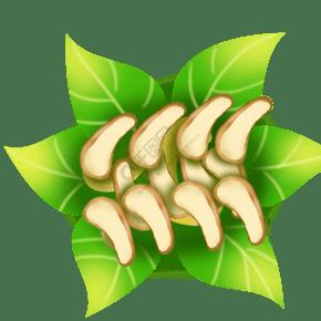 果 零食 食品 果仁 腰果 花葉
