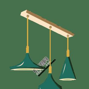 灯具餐厅吊灯插画