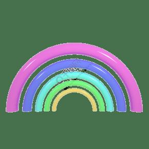 c4d立体多彩彩虹免扣图