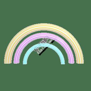 c4d立体多彩彩虹免扣