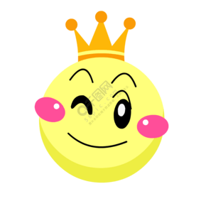 手绘黄色圆形带?#20351;?#21487;爱的圆形笑脸