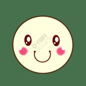 浅黄色手绘卡通表情可爱的笑脸