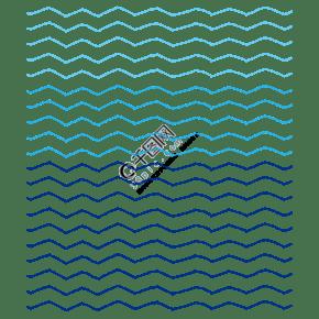 藍色手繪通用波浪線底紋