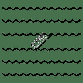 黑色手繪通用波浪線底紋