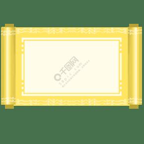 手繪花紋卷軸邊框