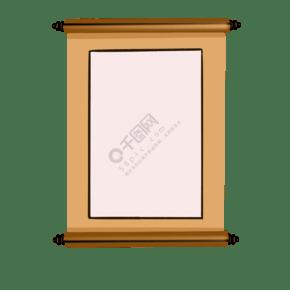 手繪中式卷軸邊框