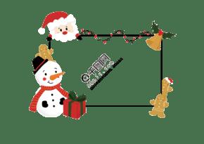 插畫手繪圣誕主題賀卡祝福文字框