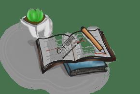 阅读日手绘书籍素材