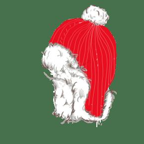 红色毛毛帽子png图片素材