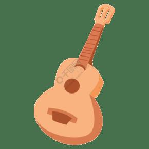 卡通矢量樂器吉他