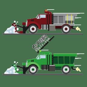 推土車工程車元素