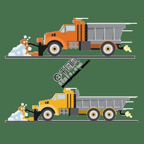 工程車推土車元素