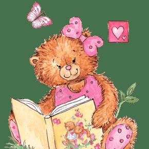 卡通可爱的小熊手绘素材