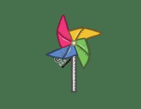卡通风纸风车PNG图片