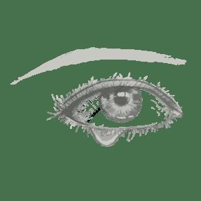 流眼泪的右眼素描效果元素