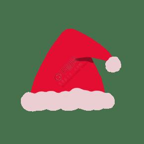 红色可爱简约圣诞帽png图片素材
