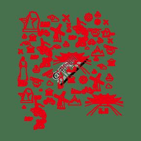 柳州工業城市旅游元素底紋下載